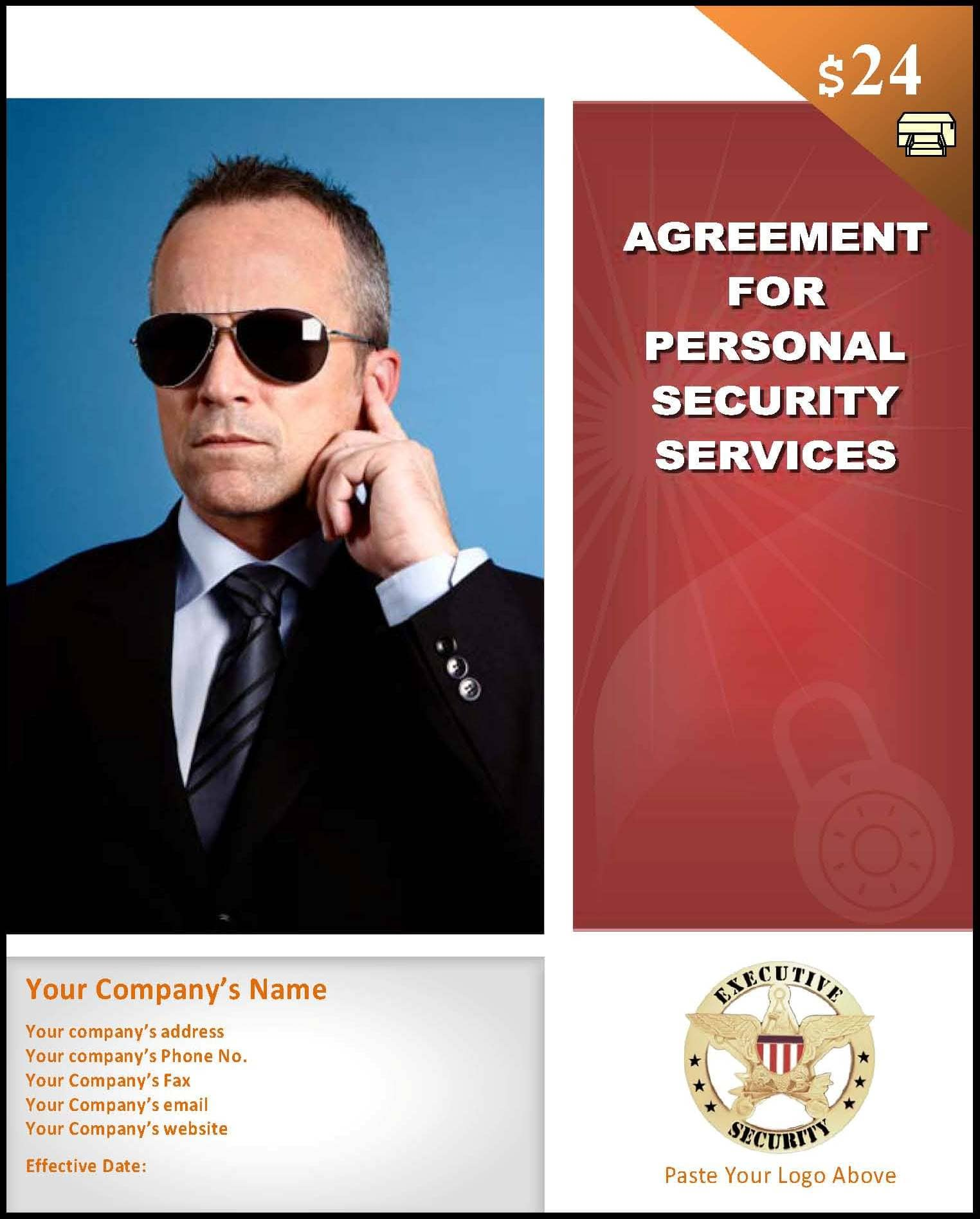 Bodyguard Contract Template Startasecuritycompany