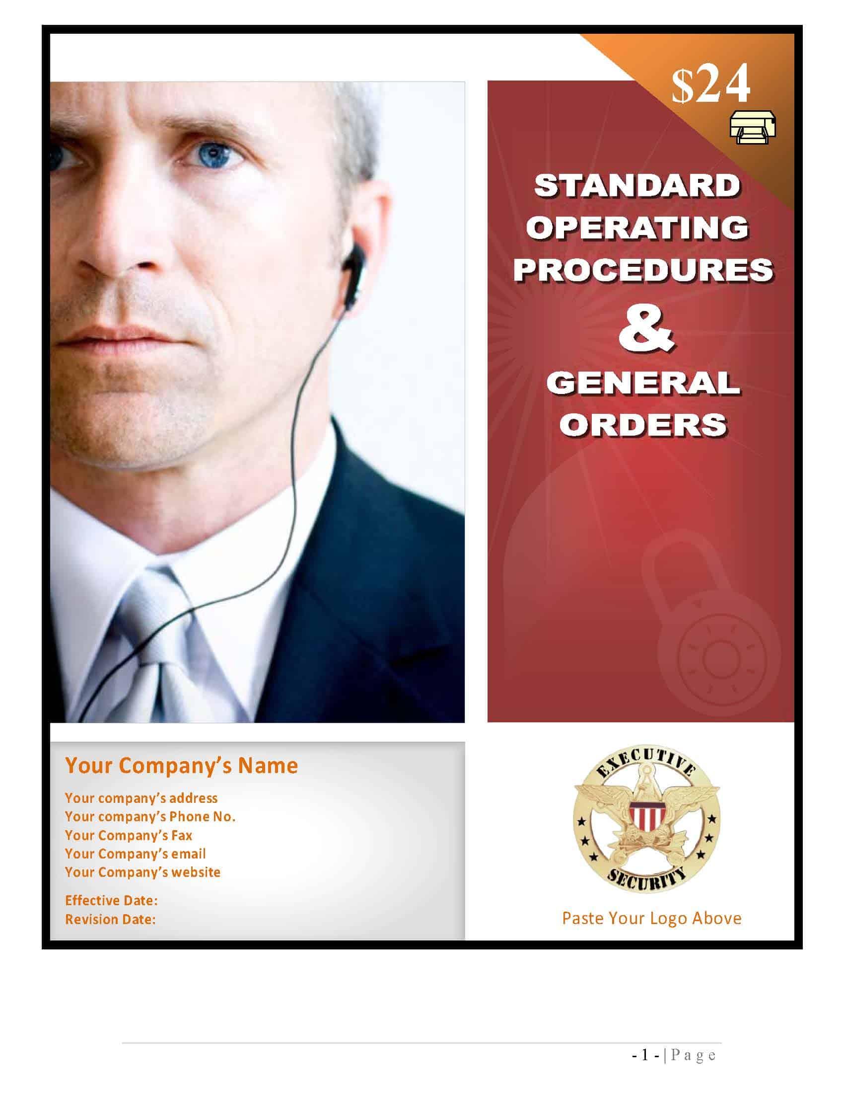 security guard standard operating procedures