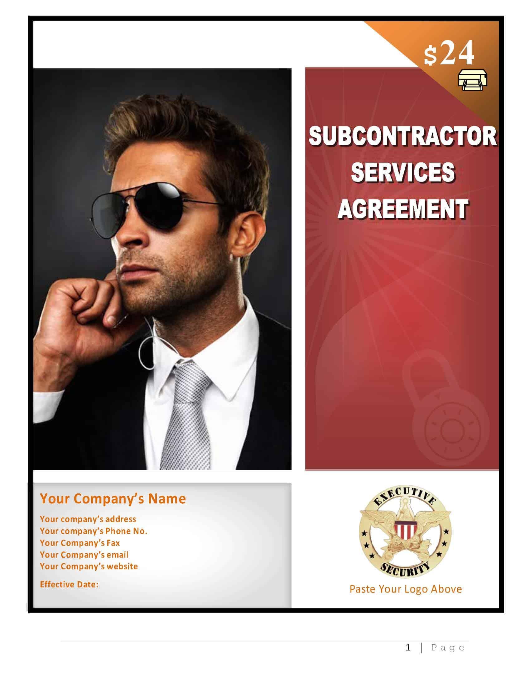 security subcontractor agreement