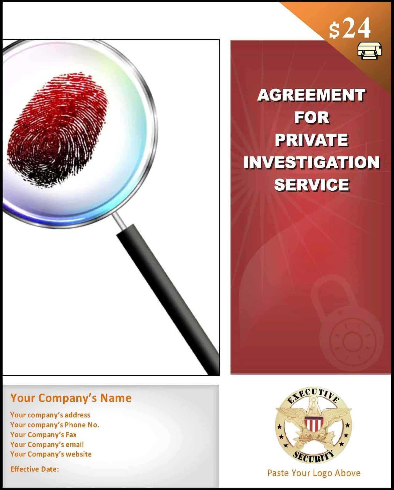 private investigator contract
